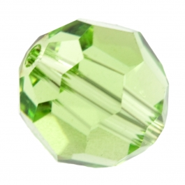 6mm Peridot 5000 Round Swarovski Crystal Beads - Pack of 10