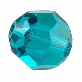 8mm Blue Zircon 5000 Round Swarovski Crystal Beads - Pack of 6
