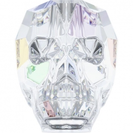 13mm Crystal AB Swarovski Skull Bead - Pack of 1