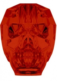 13mm Crystal Red Magma Swarovski Skull Bead - Pack of 1