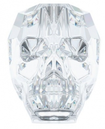 13mm Crystal Swarovski Skull Bead  - Pack of 1