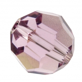 8mm Light Amethyst 5000 Round Swarovski Crystal Beads - Pack of 6