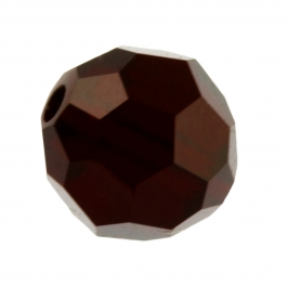 6mm Garnet 5000 Round Swarovski Crystal Beads - Pack of 10
