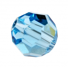 6mm Aquamarine 5000 Round Swarovski Crystal Beads - Pack of 10