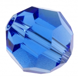 8mm Sapphire 5000 Round Swarovski Crystal Beads - Pack of 6