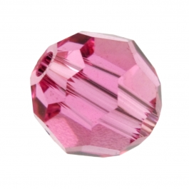 8mm Rose 5000 Round Swarovski Crystal Beads - Pack of 6
