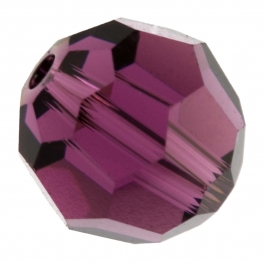 8mm Amethyst 5000 Round Swarovski Crystal  Beads - Pack of 6