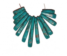 13 Piece Turquoise (Reconstituted) Collar Set - Pack of 1 Set