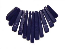 13 Piece Lapis (Reconstituted/Dyed) Gemstone Bead Collar - 1 Set