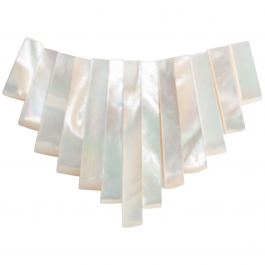 13 Piece Mother Of Pearl Collar Set