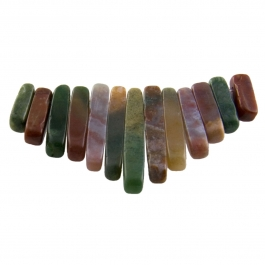13 Piece Fancy Jasper Collar Set - Pack of 1 Set