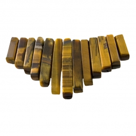 13 Piece Tiger Eye Collar Set - Pack of 1