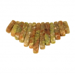 13 Piece Autumn Jasper Collar Set - Pack of 1