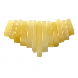 13 Piece Yellow Jade Collar Set - Pack of 1
