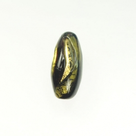 Exposed Gold Oval Chocolate/Yellow Gold, Size 28mm