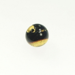 Exposed Gold Round Chocolate/Yellow Gold, Size 12mm