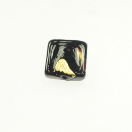 Exposed Gold Square Chocolate/Yellow Gold, Size 11mm