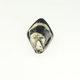 Exposed Gold Flat Diamond Black/White Gold, Size 30mm