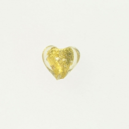Baby Foil Heart Crystal/Yellow Gold Foil, Approx. Size 14mm