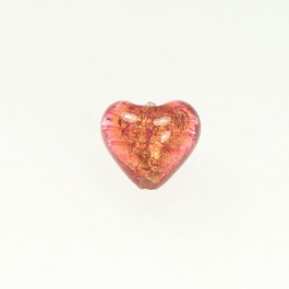 Baby Foil Heart Rubino/Yellow Gold Foil, Approx. Size 14mm