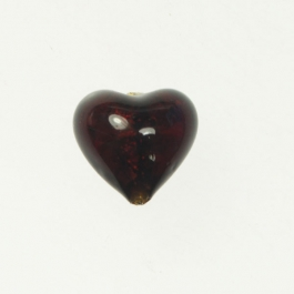 Baby Foil Heart Red/Yellow Gold, Approx. Size 14mm