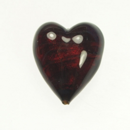 Large Foil Heart Red/Yellow Gold, Size 21mm