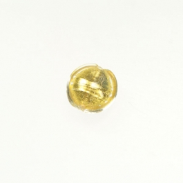 Foil Lentil Crystal/Yellow Gold, Size 14mm