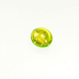 Foil Lentil Lime/Yellow Gold, Size 14mm
