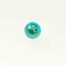 10mm Foil Round Aqua/Yellow Gold, Size 10mm