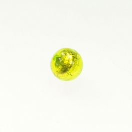10mm Foil Round Lime/Yellow Gold, Size 10mm