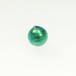 14mm Foil Round Aqua/Yellow Gold, Size 14mm