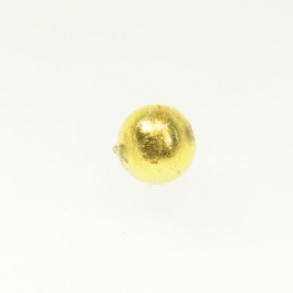 14mm Foil Round Crystal/Yellow Gold, Size 14mm