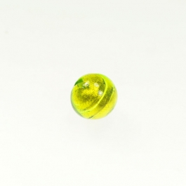 14mm Foil Round Lime/Yellow Gold, Size 14mm