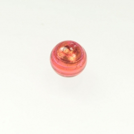 14mm Foil Round Rubino/Yellow Gold, Size 14mm