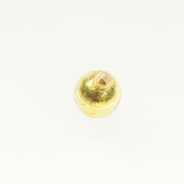 8mm Foil Round Crystal/Yellow Gold, Size 8mm