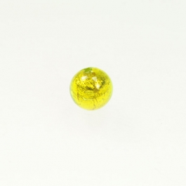 8mm Foil Round Lime/Yellow Gold, Size 8mm