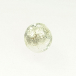 Foil Nugget Crystal/White Gold, Size 16mm