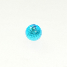 10mm Foil Round Aqua/White Gold, Size 10mm