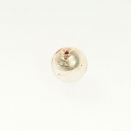 10mm Foil Round Champagne/White Gold, Size 10mm