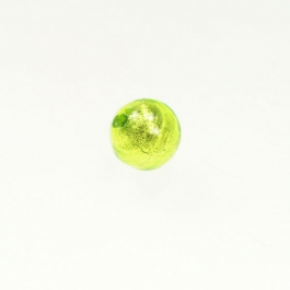 10mm Foil Round Lime/White Gold, Size 10mm