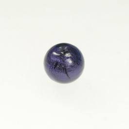 14mm Foil Round Purple/White Gold, Size 14mm