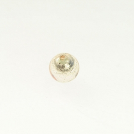 8mm Foil Round Champagne/White Gold, Size 8mm