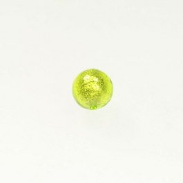 8mm Foil Round Lime/White Gold, Size 8mm