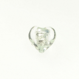 Baby Heart Crystal/Silver Foil, Approx. Size 14mm