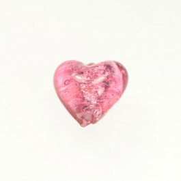 Baby Heart Rubino/Silver Foil, Approx. Size 14mm