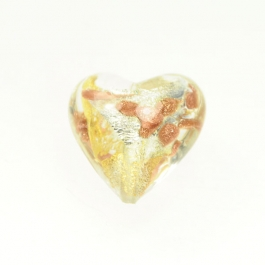 Luna Heart Luna Heart - Crystal/White & Yellow Gold, Aventurina,  Size 21mm