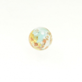 Luna Round Turquoise/White & Yellow Gold, Aventurina, Size 12mm