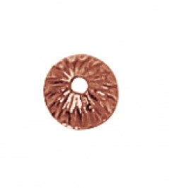 5 mm Copper Filigree End Caps - Pack of 20