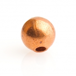 3.5mm Copper Round Bead - Pack of 10