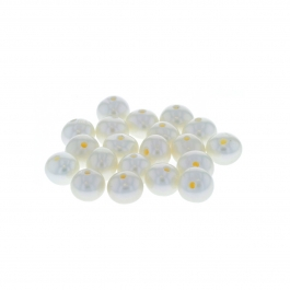 6.5-7mm Large Hole (1.2mm) White Potato Fresh Water Pearls - Pack of 20